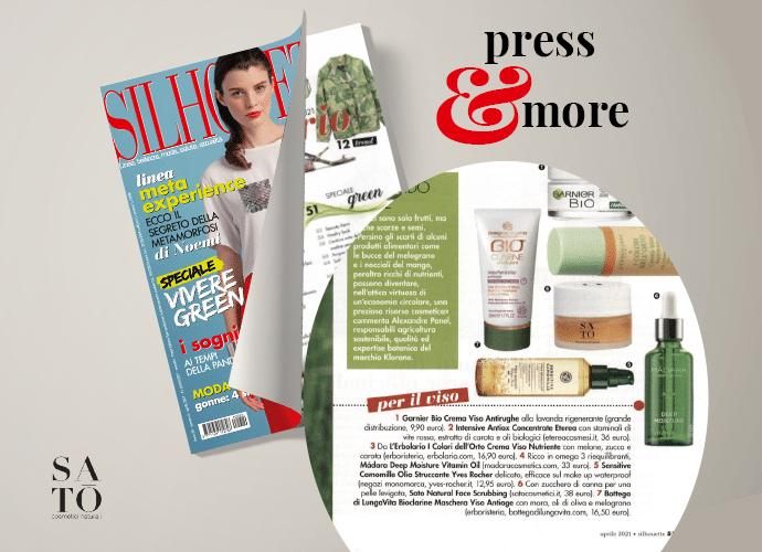 Read more about the article Satō Cosmetici in classifica tra i prodotti beauty «eco» consigliati su Silhouette e F