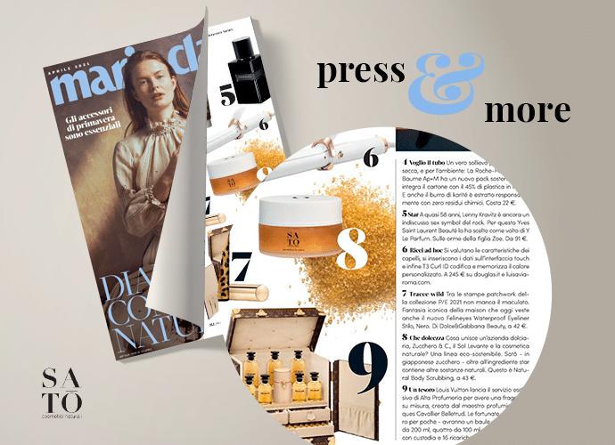 Read more about the article Satō su Marie Claire: in classifica tra i migliori trend beauty per la P/E 2021